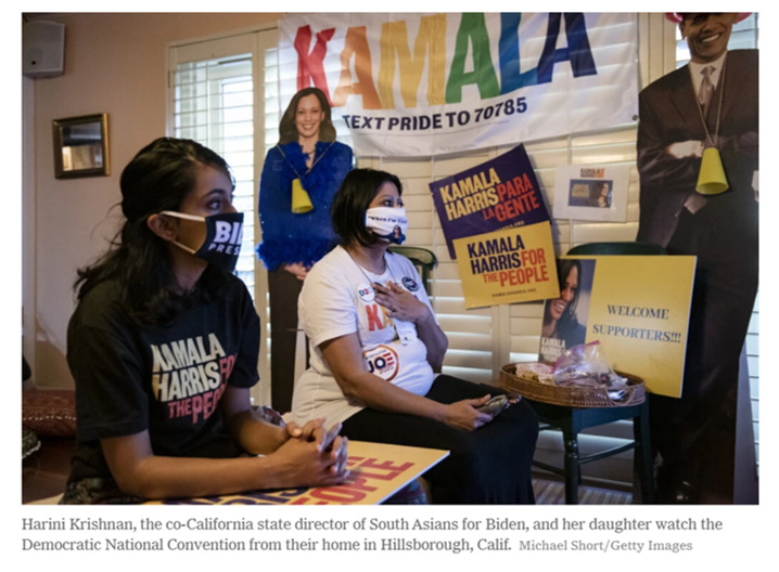 Image Courtesy of The New York Times: South Asians for Biden