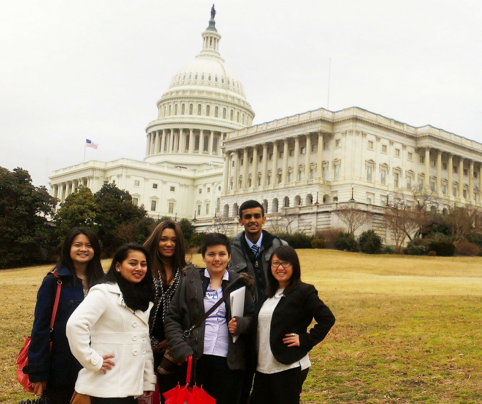 youth leadership participants on the Hill